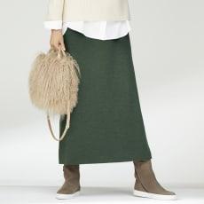 イタリア糸 ダブルジャカード Aライン スカート