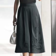 カットワーク刺繍 フレアースカート