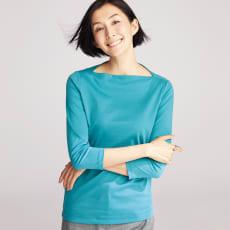 スビン綿 デザイン ボートネック Tシャツ