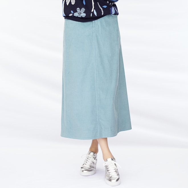 フレンチコーデュロイ Aライン スカート 着用例