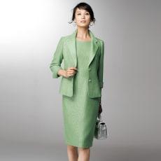 Faliero Sarti/ファリエロ サルティ からみ織り スーツセット(ジャケット+ワンピース)