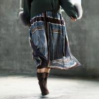 エリカ社 シルクシフォン ハンカチヘム スカート