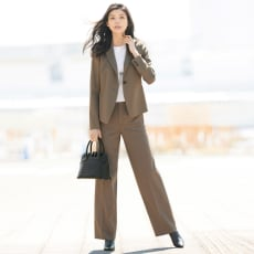 レーヨンキュプラ混 スーツセット(ジャケット+パンツ)
