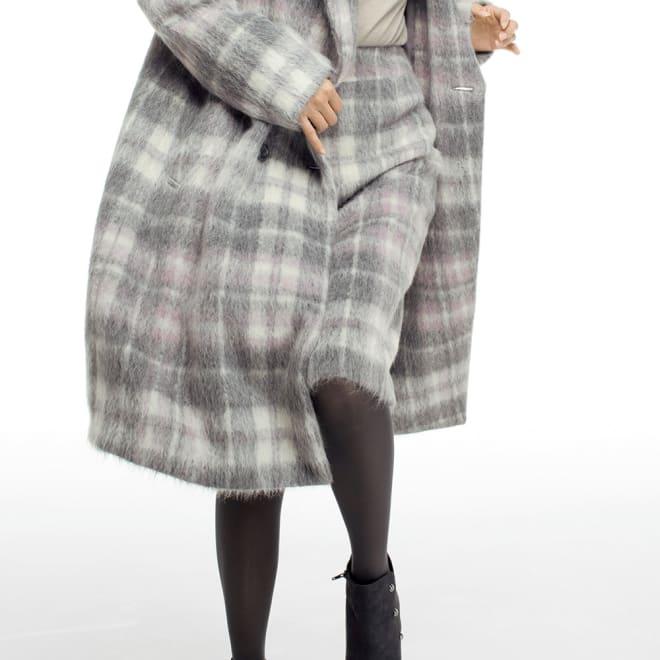 AGNONA/アニオナ アルパカシャギー タイトスカート 着用例