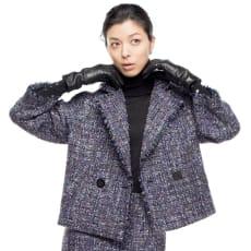 ソルデボロ社 ファンシーツイード ショートジャケット