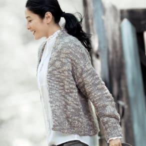 イタリア糸 ファンシーヤーン ショートカーディガン 写真