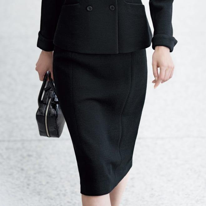 ドンディ社 ウールジャージー スカート 着用例