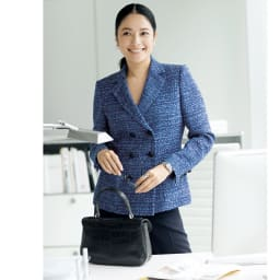マリア・ケント社 ツイード スーツセット(ジャケット+ワンピース) コーディネート例(ジャケットのみ)