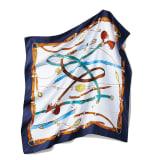 シルクツイル プリント スカーフ 写真