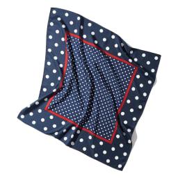 ドットプリント シルクツイル スカーフ