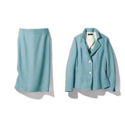 Faliero Sarti/ファリエロ サルティ からみ織り スーツセット(ジャケット+スカート) ジャケット+スカート
