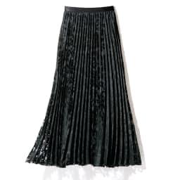 フラワー&リーフモチーフ オパール加工 セットアップ(プルオーバー+スカート) スカート