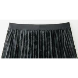 フラワー&リーフモチーフ オパール加工 セットアップ(プルオーバー+スカート) スカート ウエスト部分