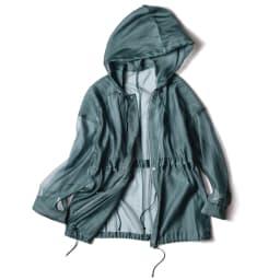 コットンシルクオーガンジー シャツジャケット