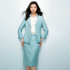 Faliero Sarti/ファリエロ サルティ からみ織り スーツセット(ジャケット+スカート) 写真