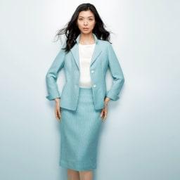 Faliero Sarti/ファリエロ サルティ からみ織り スーツセット(ジャケット+スカート) コーディネート例