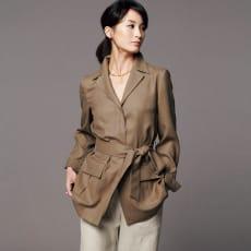 トリアセテート混 フラップポケット シャツジャケット