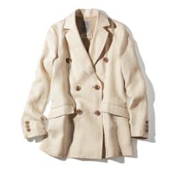 イタリア素材 リネン ダブルブレスト ジャケット