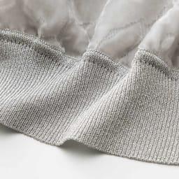 ラミーシルク 布帛使い ニットカーディガン&オパールプリント プルオーバー アンサンブル プルオーバー 裾部分