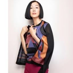 トルコ素材 ドビー織り カラーパンツ コーディネート例