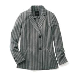 イタリア素材 ラメ入り ヘリンボーン ジャージー ジャケット