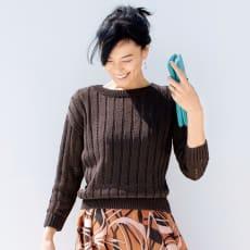 ギマコットン 透かし編み プルオーバー