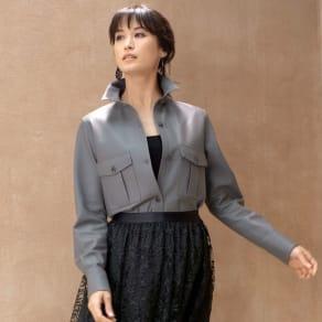 スペイン産 ラムレザー シャツジャケット 写真