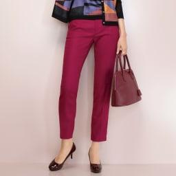 トルコ素材 ドビー織り カラーパンツ 着用例
