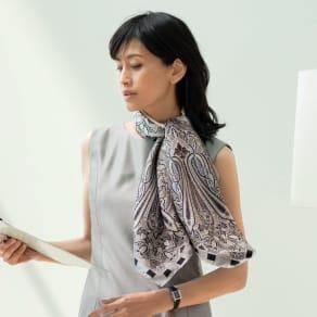 シルクツイル ペイズリー柄 スカーフ 写真
