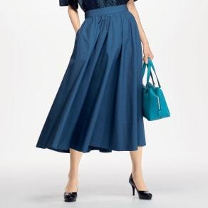 コットン素材 フレアースカート 写真