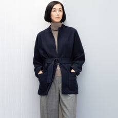 イタリア糸 圧縮ウール ニットジャケット
