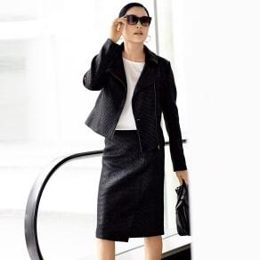 ソルデボロ社 コーティングツイード スーツセット(ジャケット+スカート) 写真