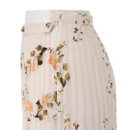 フラワーオパールプリント プリーツスカート