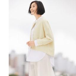 タック編み ニットジャケット コーディネート例