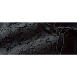 コードレース シフォンフリル付き ニットジャケット 生地アップ