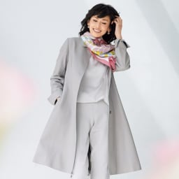 スペイン産ラムレザー ロングコート 着用例