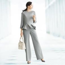 ウール混 梳毛素材 セットアップ(プルオーバー+パンツ)