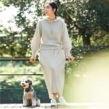 ワッフル編み ホールガーメント セットアップ (プルオーバー+スカート) 写真