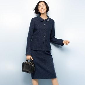 イタリア素材 ラメツイード スーツセット(ジャケット+スカート) 写真