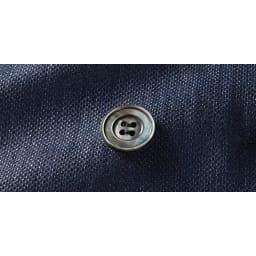 リッチェリ社 リネン混 スーツセット(ジャケット+パンツ) ジャケットボタン部分