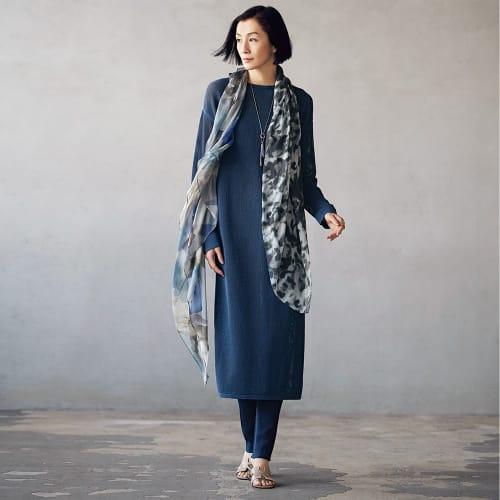 メッシュ編み チュニック&カーディガン 画像