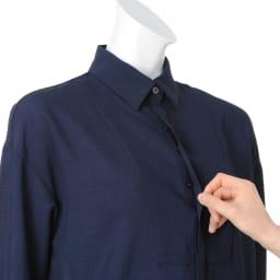 オーバーサイズ ロングシャツ