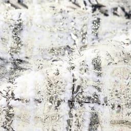 フランス素材 ラメ糸使い ツイード ワンピース 生地アップ