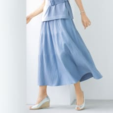イタリア糸ニット イレギュラーリブフレアースカート