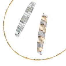K18 マグネット フレキシブル ネックレス兼ブレスレット