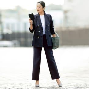 【股下丈65cm】 リッチェリ社 リネン混 スーツセット(ジャケット+パンツ) 写真