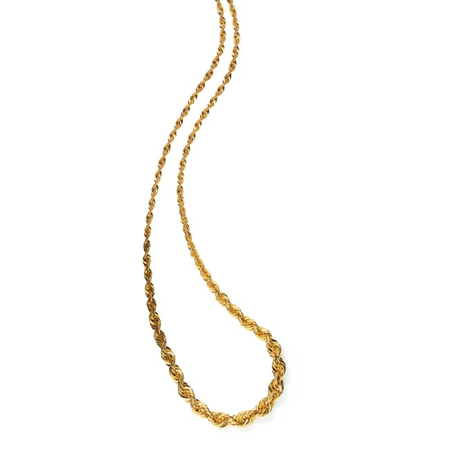 K18 ロープチェーン ネックレス(イタリア製)