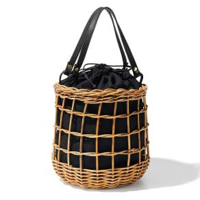 Cachellie/カシェリエ アラログ 透かし編み かごバッグ 写真