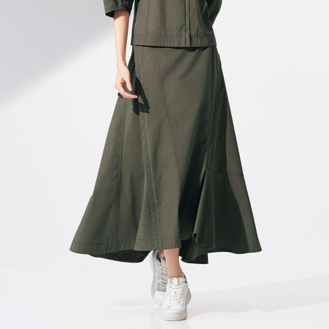 タイプライター 切り替えデザイン スカート 着用例