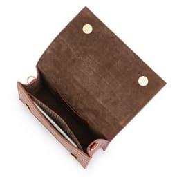 CHRISTIAN VILLA/クリスチャンヴィラ 素材コンビ バッグ(イタリア製) 138mm×67mmスマートフォン 内ポケット収納可